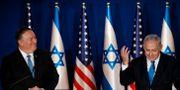 Pompeo och Netanyahu på en pressträff igår Amir Cohen / TT NYHETSBYRÅN