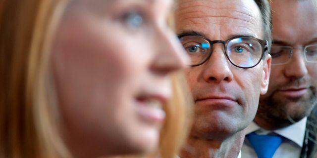 Annie Lööf (C) och Ulf Kristersson (M). Anders Wiklund/TT / TT NYHETSBYRÅN