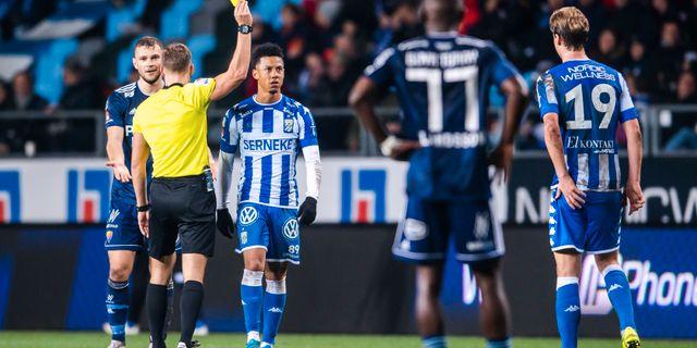 Matchen mellan Göteborg och Djurgården blev omdiskuterad. CARL SANDIN / BILDBYRÅN
