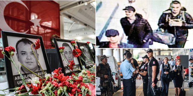 Offer, övervakningsbilder av de misstänkta, flygplatsen. TT