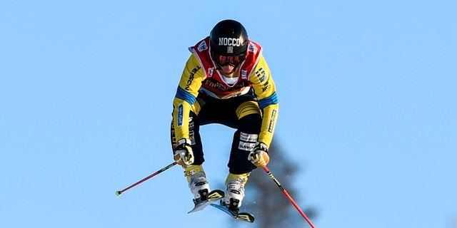 Sandra Näslund under världscupen i skicross på Idre Fjäll. Pontus Lundahl/TT / TT NYHETSBYRÅN