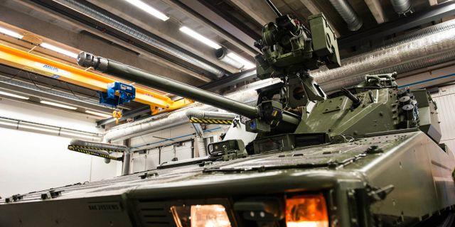 BAE Systems Hägglunds främsta export: stridsfordonet CV90. Forsvaret / TT NYHETSBYRÅN