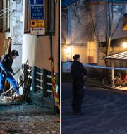 Polis i Stockholm och Uppsala. TT