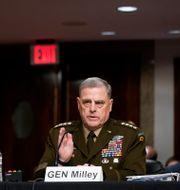 USA:s försvarschef Mark Milley under utfrågningen.  Patrick Semansky / TT NYHETSBYRÅN