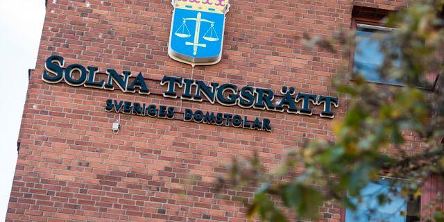 Arkivbild: Solna tingsrätt Pontus Lundahl/TT / TT NYHETSBYRÅN
