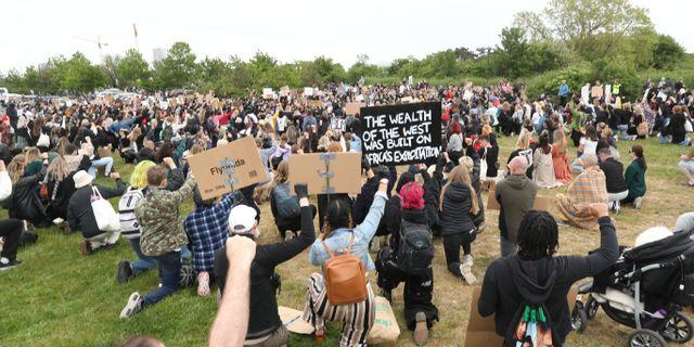Demonstranter i Malmö. Andreas Hillergren/TT / TT NYHETSBYRÅN