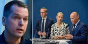 Mats Karlsson/inrikesminister Mikael Damberg (S), miljöminister Karolina Skog (MP) och justitieminister Morgan Johansson (S). TT.
