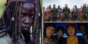 The walking dead, Avengers:Endgame och Stranger things AMC/Disney/Netflix