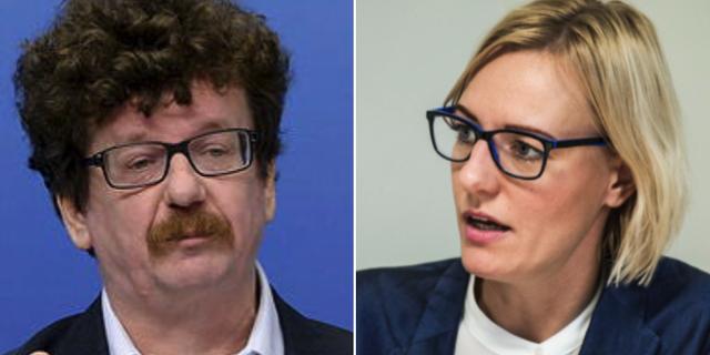 S-politikerna Lars Stjernkvist och Erika Ullberg. TT
