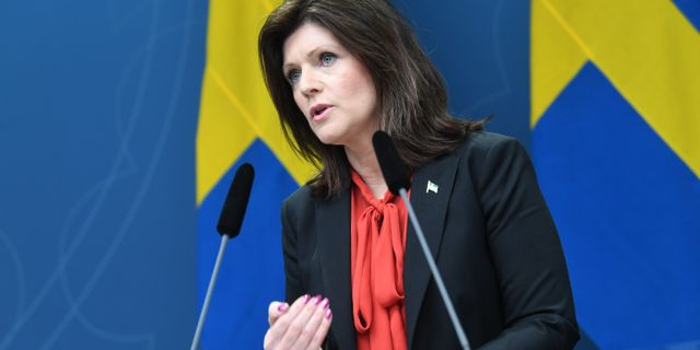 Arbetsmarknadsminister Eva Nordmark (S) Fredrik Sandberg/TT / TT NYHETSBYRÅN
