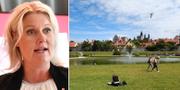 Lena Rådström Baastad/dammen i Almedalen. TT