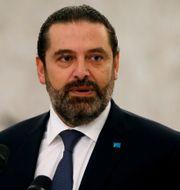 Libanons tidigare premiärminister Saad al-Hariri. Mohamed Azakir / TT NYHETSBYRÅN