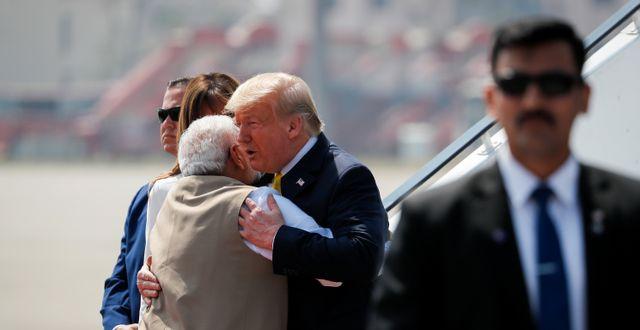 Trump och Indiens premiärminister Narendra Modi.  ALEXANDER DRAGO / TT NYHETSBYRÅN