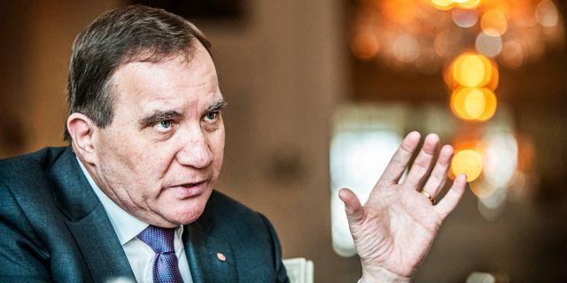 Statsminister Stefan Löfven (S). Tomas Oneborg/SvD/TT / TT NYHETSBYRÅN