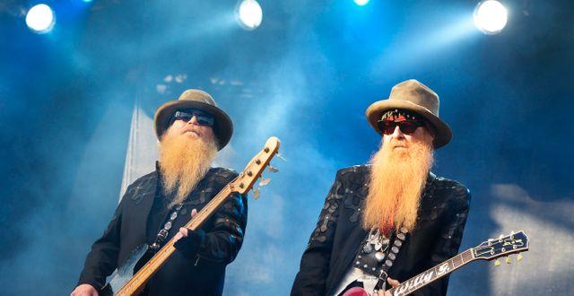 Dusty Hill och Billy Gibbons i ZZ Top. BERTIL ERICSON / TT / TT NYHETSBYRÅN