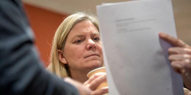 Finansminister Magdalena Andersson (S).  Janerik Henriksson/TT / TT NYHETSBYRÅN