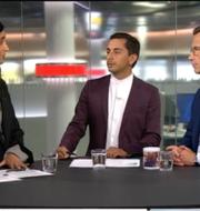 Farida al-Abani (Fi) och Ulf Kristersson (M) debatterade brott och straff  SVT