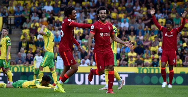 Mohamed Salah storspelade. Rui Vieira / TT NYHETSBYRÅN