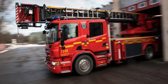 Arkivbild. Brandbil i Stockholm.  Pontus Lundahl/TT / TT NYHETSBYRÅN