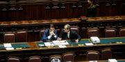 Italiens premiärminister Giuseppe Conte och ekonomiminister Giovanni Tria. Fabio Frustaci / TT NYHETSBYRÅN/ NTB Scanpix