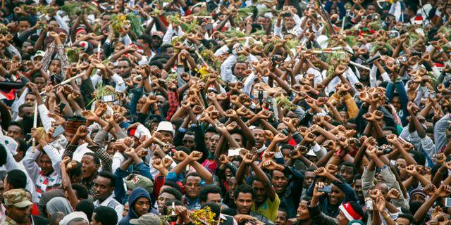 Regeringskritiska protester i Etiopien, 2016. STR / TT / NTB Scanpix