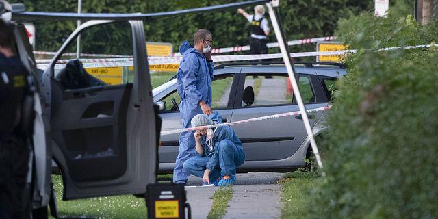 Utredningen efter dubbelmordet i Herlev. TT