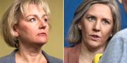 Högskoleminister Helene Hellmark Knutsson (S) och miljöminister Karolina Skog (MP). TT