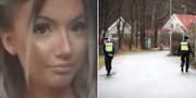 Wilma Andersson/Polis som letar efter henne. PRIVAT/TT