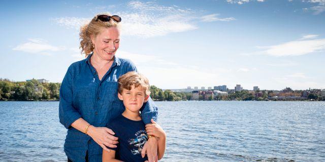Ulrika Wesström med sin son Dante. Ulrika Wesström var 49 år när hon fick sin son. Pär Fredin/TT