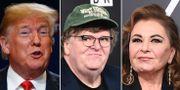 Donald Trump, Michael Moore och Roseanne Barr. TT
