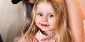 """Den treåriga flickan Esmeralda, även kallad """"Lilla hjärtat"""" Privat"""