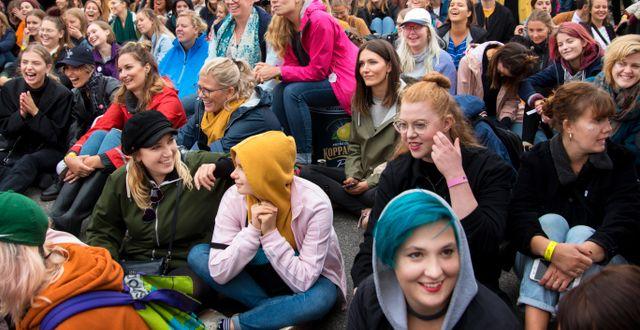 Besökare under Statement Festival på Bananpiren i Göteborg. Frida Winter/TT / TT NYHETSBYRÅN