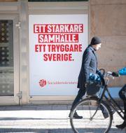 Valaffisch Sveavägen i Stockholm/Arkivbild Fredrik Sandberg/TT / TT NYHETSBYRÅN