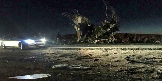 En bild från statliga nyhetsbyrån Fars visar platsen för dådet. HANDOUT / fars news