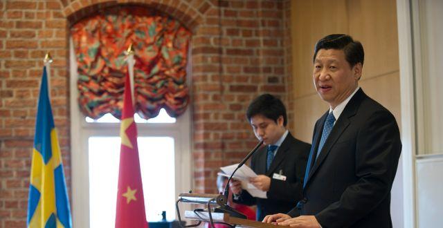 Xi Jinping på Nordiska Konfuciusinstitutet i Stockholm, 2010.  FREDRIK SANDBERG / TT / TT NYHETSBYRÅN