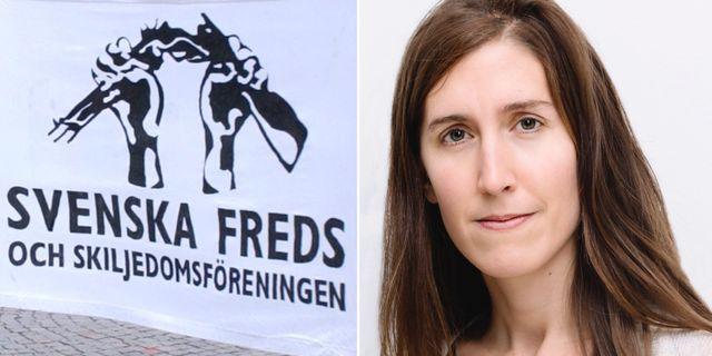 Agnes Hellström, Svenska freds, hade velat se ett skarpare förslag. Svenska freds/TT