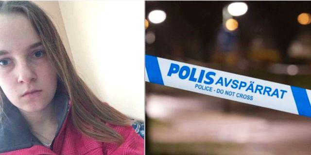 17-åriga Agnes, bild från polisens efterlysning. Polisen/Privat, TT