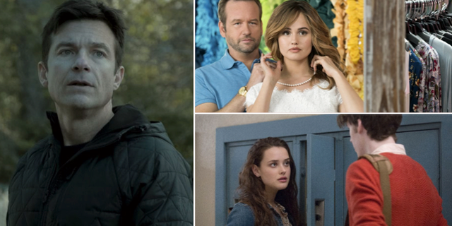 Ozark, Insatiable och 13 reasons why. HBO/Netflix/Netflix
