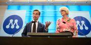 Moderaternas partiledare Ulf Kristersson och partiets ekonomisk-politiska talesperson Elisabeth Svantesson. Pontus Lundahl/TT / TT NYHETSBYRÅN