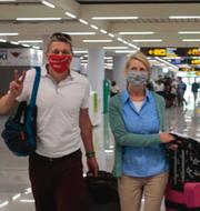 TUI flygplan / Passagerare från flighten Düsseldorf - Mallorca anländer på flygplatsen i Palma.  TT