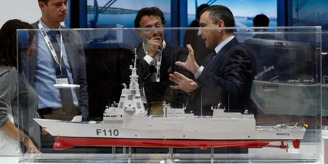 Illustrationsbild: Modell av fartyg från Navantia. BENOIT TESSIER / TT NYHETSBYRÅN