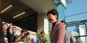 Carrie Lam fotograferas när hon röstade i lokalvalet på söndagen.  Kin Cheung / TT NYHETSBYRÅN
