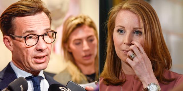 Ulf Kristersson och Annie Lööf. TT