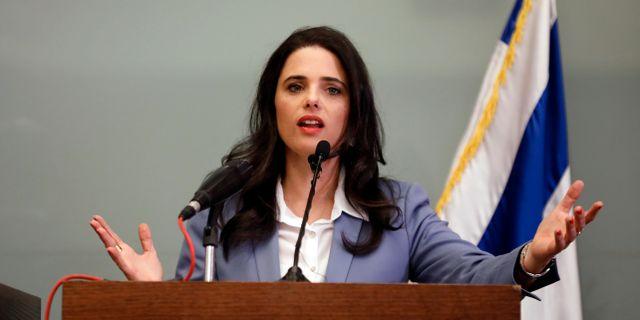 Israels justitieminister Ayelet Shaked AMIR COHEN / TT NYHETSBYRÅN