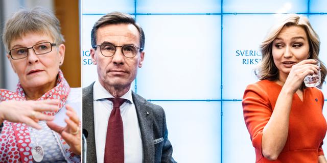 Maud Olofsson/Ulf Kristersson och Ebba Busch Thor. TT