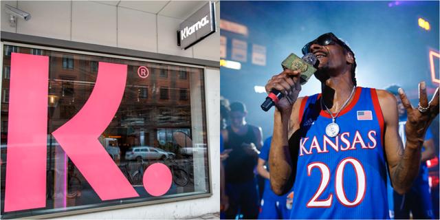 Snoop Dogg är storägare i Klarna.  TT