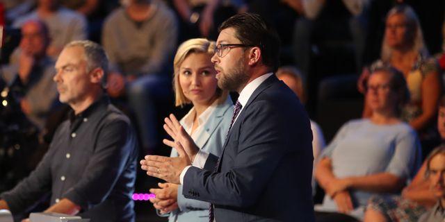 Ebba Busch Thor och Jimmie Åkesson.  Adam Ihse/TT / TT NYHETSBYRÅN