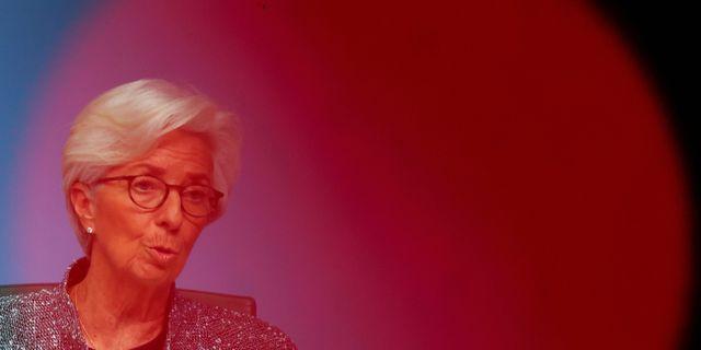ECB-chefen Lagarde. Arkivbild. KAI PFAFFENBACH / TT NYHETSBYRÅN
