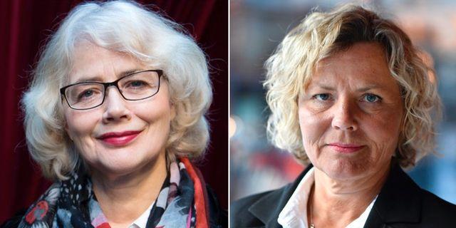 Marika Lagercrantz och Anna Serner.  TT NYHETSBYRÅN