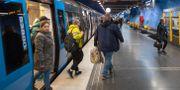 Stockholms tunnelbana. ALI LORESTANI / TT / TT NYHETSBYRÅN